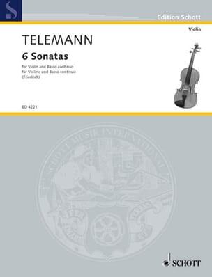 Sechs Sonaten TELEMANN Partition Violon - laflutedepan