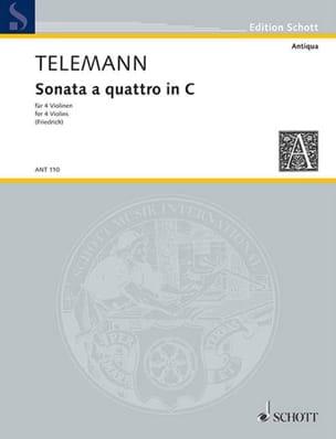 TELEMANN - Sonata a quattro in C - Sheet Music - di-arezzo.com