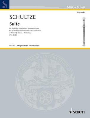 Johann Christoph Schultze - Suite -2 Altblockflöten und BC - Partition - di-arezzo.fr