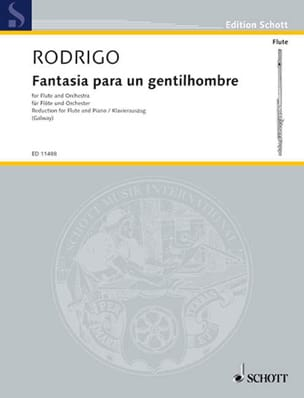 Joaquín Rodrigo - Fantasia para un Gentilhombre - Flöte Klavier - Partition - di-arezzo.fr
