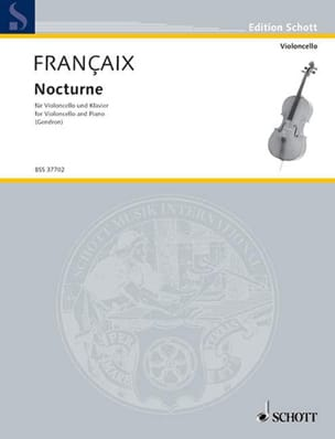 Jean Françaix - Nocturne - Cello - Sheet Music - di-arezzo.com