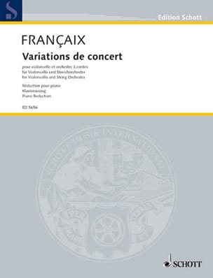 Jean Françaix - Concert Variations - Sheet Music - di-arezzo.co.uk