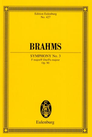 Johannes Brahms - Symphonie N° 3 F Major Op. 90 - Conducteur - Partition - di-arezzo.fr
