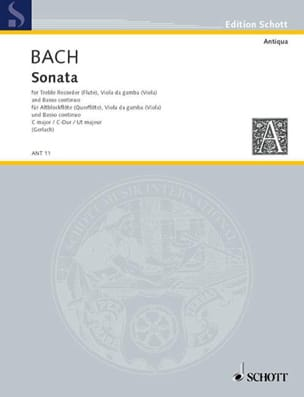 Sonata C-Dur - Altblockflöte Viola da gamba u. Bc - laflutedepan.com