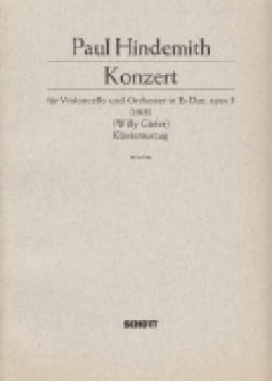 Concerto mi bémol majeur, op. 3 1915 HINDEMITH Partition laflutedepan
