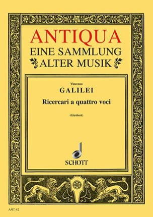 Ricercari a quattro voci - Vincenzo Galilei - laflutedepan.com