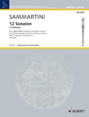 SAMMARTINI - 12 Sonaten - Heft 2: Nr. 5-8 - 2 Altblockflöten BC - Sheet Music - di-arezzo.co.uk