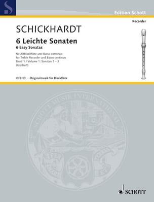 6 Leichte Sonaten Volume 1 Johann Christian Schickhardt laflutedepan