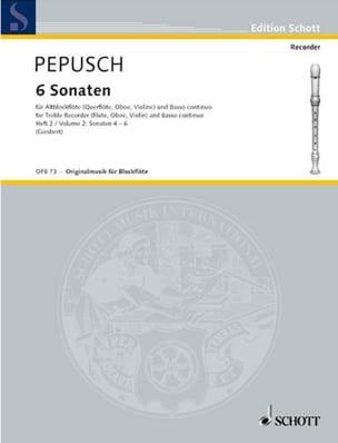 6 Sonaten, Bd. 2 Nr. 4-6 - Altblockflöte u. BC laflutedepan
