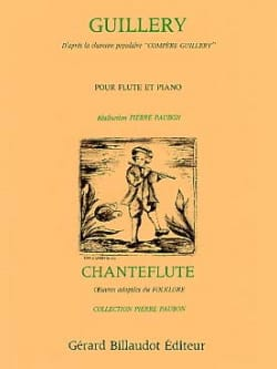 Pierre Paubon - Guillery - Flute and piano - Partition - di-arezzo.co.uk