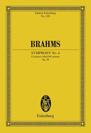 Symphonie N° 4 E Minor Op. 98 - Conducteur BRAHMS laflutedepan