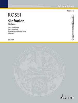 Salomon Rossi - Sinfonien zu 3 Stimmen - Sheet Music - di-arezzo.co.uk