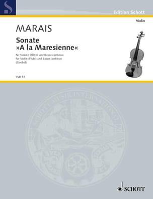 Sonate à la Maresienne - Marin Marais - Partition - laflutedepan.com