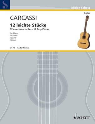 Matteo Carcassi - 12 Morceaux faciles - Partition - di-arezzo.fr