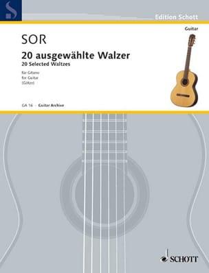 Fernando Sor - 20 Augewählte Walzer - Guitar - Sheet Music - di-arezzo.com
