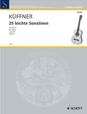 25 Leichte Sonatinen op. 80 - Joseph Küffner - laflutedepan.com