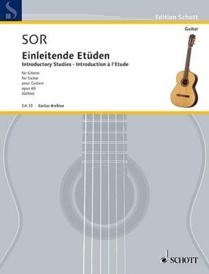 Fernando Sor - Einleitende Etüden op. 60 - Partition - di-arezzo.fr