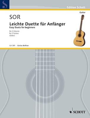 Fernando Sor - Leichte Duette für Anfänger - 2 Gitarren - Noten - di-arezzo.de