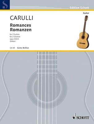 Romanzen - 2 Gitarren Ferdinando Carulli Partition laflutedepan