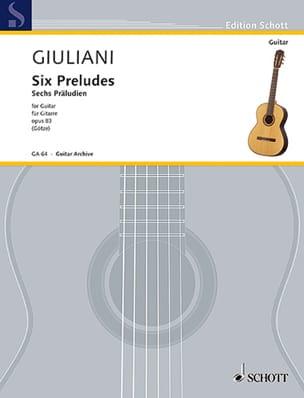 6 Präludien, op. 83 - Mauro Giuliani - Partition - laflutedepan.com