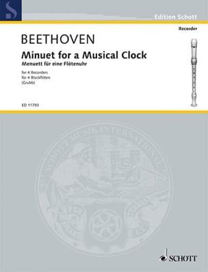 Ludwig van Beethoven - Menuett für eine Flötenuhr– 4 Blockflöten - Partition - di-arezzo.fr