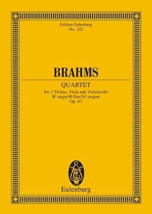 Streichquartett B-Dur, op. 67 - Conducteur BRAHMS laflutedepan