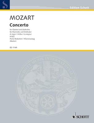 Wolfgang Amadeus Mozart - Concerto A-Dur KV 622 – Klarinette Klavier - Partition - di-arezzo.fr