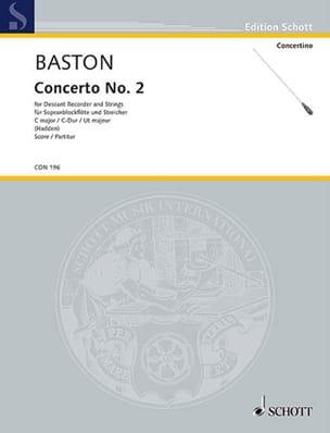 Concerto n° 2 C-Dur - Sopranblockflöte - laflutedepan.com