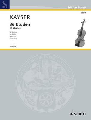 Heinrich Ernst Kayser - 36 Studies, op. 20 Hammann - Sheet Music - di-arezzo.co.uk