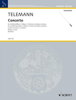 Concerto a-moll - Partitur - Georg Philipp Telemann - laflutedepan.com