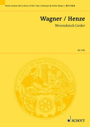 Fünf Gedichte (1976) - Conducteur - Richard Wagner - laflutedepan.com