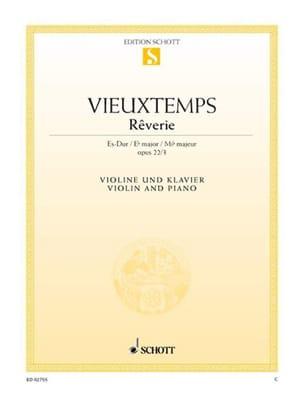 Henri Vieuxtemps - Rêverie op. 22 n° 3 - Partition - di-arezzo.fr