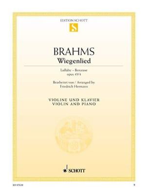 BRAHMS - Wiegenlied op. 49 n° 4 - Partition - di-arezzo.fr