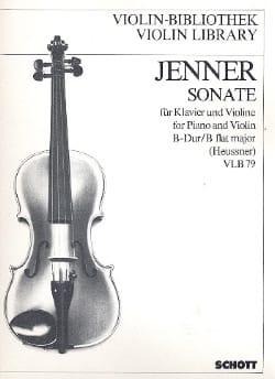 Sonate si bémol Majeur - Gustav Jenner - Partition - laflutedepan.com