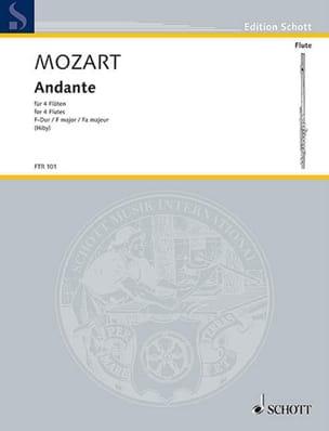 MOZART - Andante F-Dur KV 616 - 4 Flöten - Partition - di-arezzo.fr