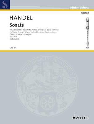 Georg Friedrich Haendel - Sonate C-Dur op. 1 n° 7 – Altblockflöte u. Bc - Partition - di-arezzo.fr
