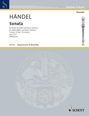 Sonate F-Dur op. 1 n° 11 – Altblockflöte u. Bc - laflutedepan.com