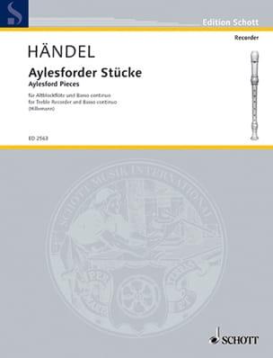 Stücke für Altblockflöte u. Basso continuo HAENDEL laflutedepan