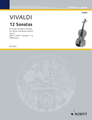 VIVALDI - 12 Sonatas op. 2 Volume 1 - Sheet Music - di-arezzo.co.uk