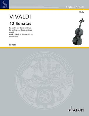 VIVALDI - 12 Sonatas op. 2 Volume 2 - Sheet Music - di-arezzo.co.uk