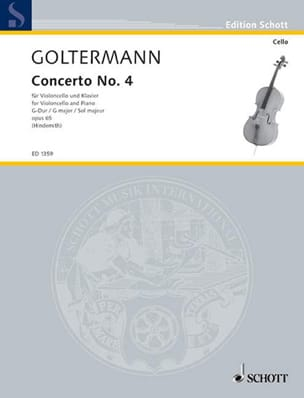 Georg Goltermann - Concierto No. 4 G major, op. 65 - Partitura - di-arezzo.es