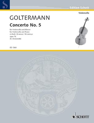 Georg Goltermann - Concerto No. 5 D minor op. 76 - Sheet Music - di-arezzo.co.uk