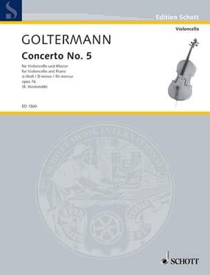 Georg Goltermann - Concerto No. 5 D minor op. 76 - Sheet Music - di-arezzo.com