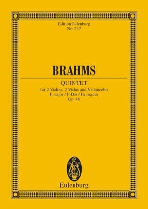Streich-Quintett F-Dur, op. 88 F-Dur BRAHMS Partition laflutedepan