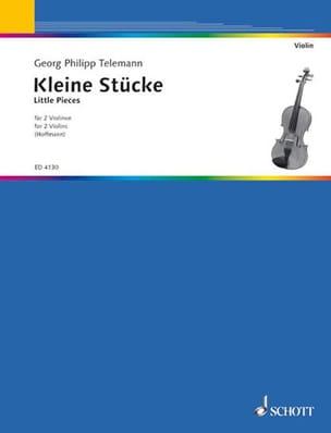 Kleine Stücke für 2 Violinen TELEMANN Partition Violon - laflutedepan