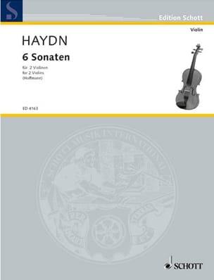 6 Sonaten HAYDN Partition Violon - laflutedepan