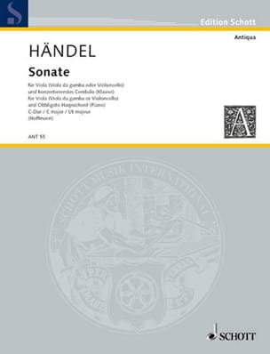 Sonate HAENDEL Partition Alto - laflutedepan