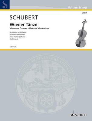 Wiener Tänze - Franz Schubert - Partition - Violon - laflutedepan.com