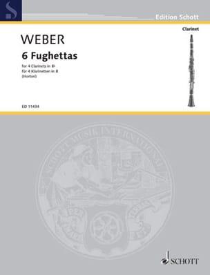 Carl Maria von Weber - 6 Fughettas - Partition - di-arezzo.fr