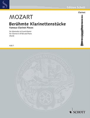 Wolfgang Amadeus Mozart - Pièces célèbres pour clarinette - Partition - di-arezzo.fr